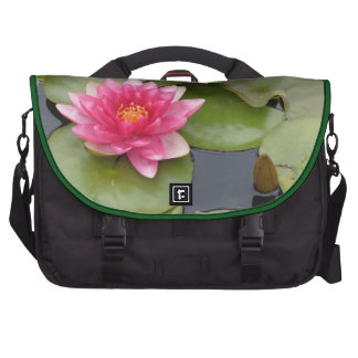 Bright Pink Water Lily Flower Commuter Bag