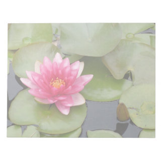Bright Pink Water Lily Flower Note Pad