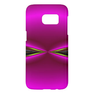 Bright Pink With Green Razor Edge Abstract Samsung Galaxy S7 Case