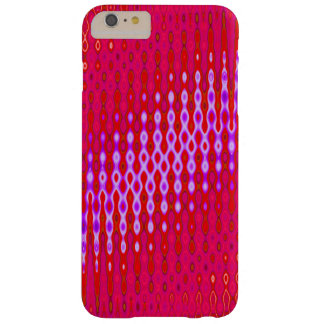 Bright pink with purple modern barely there iPhone 6 plus case