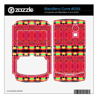 Bright pink yellow lacey abstract skins for BlackBerry