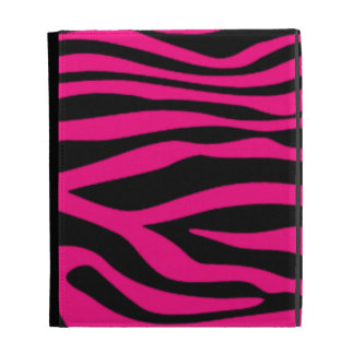 Bright Pink Zebra Animal Print iPad Case