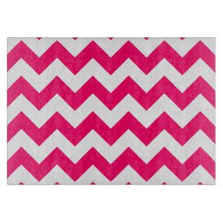 Bright Pink Zigzag Pattern Cutting Board