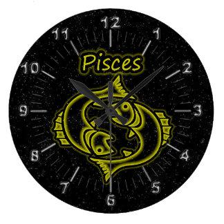 Bright Pisces Large Clock