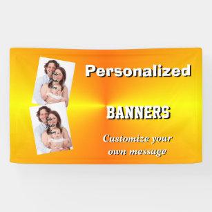 plain orange banners signs zazzle