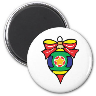 Bright Pointed Ornament 2 Inch Round Magnet
