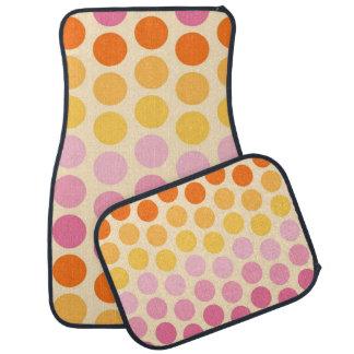 Bright Polka Dots Car Mats