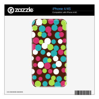 Bright Polka Dots iPhone 4/4S Skin iPhone 4S Decal