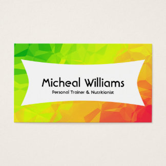 Bright Polygon Personal Trainer Business Cards