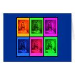 Bright Pop Art Jesus on Tshirts, Gifts Greeting Card