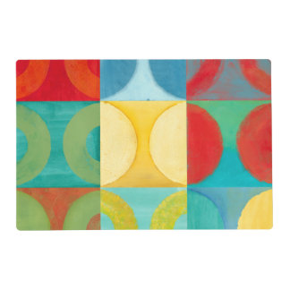 Bright Pop Art with Circles and Squares Placemat