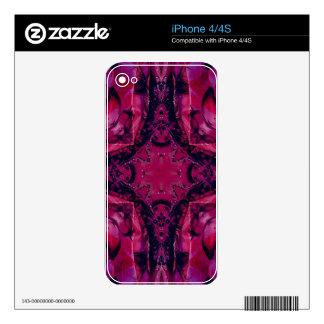 Bright Pop Neon Magenta Artistic Pattern iPhone 4 Skin