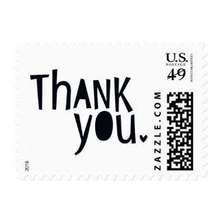 BRIGHT POP TYPE modern typography bold thank you Postage