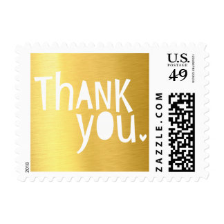 BRIGHT POP TYPE modern typography bold thank you Stamp