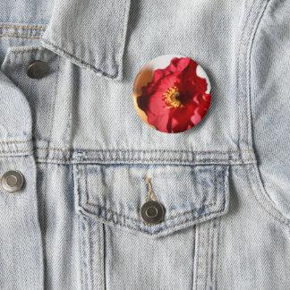 Bright Poppy Pinback Button