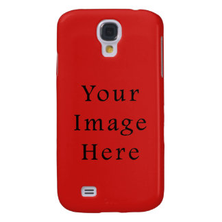 Bright Poppy Red Color Trend Blank Template Galaxy S4 Cover