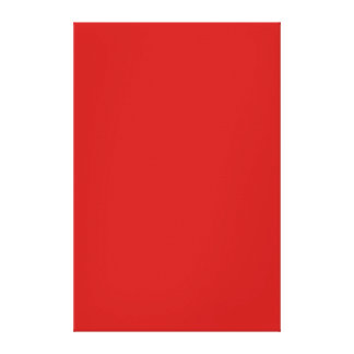 Bright Poppy Red Color Trend Template Gallery Wrap Canvas