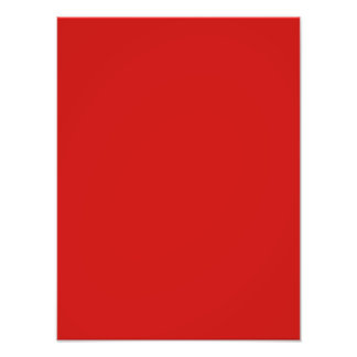 Bright Poppy Red Color Trend Template Photo Print