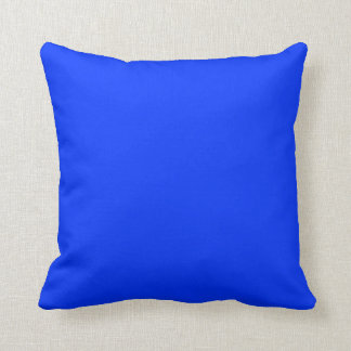 bright primary blue  pillow