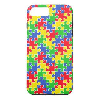 Bright Primary Colors Jigsaw Puzzle Pieces iPhone 8 Plus/7 Plus Case
