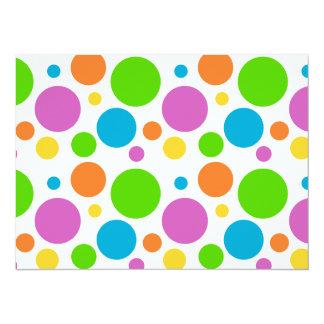 Bright Primary Polka Dots Card