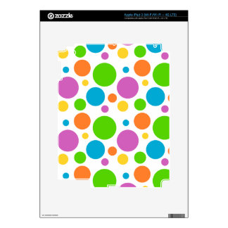 Bright Primary Polka Dots Skins For iPad 3