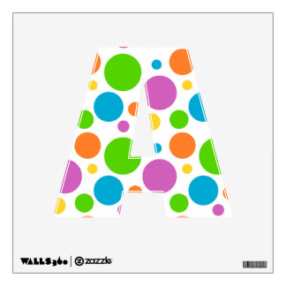 Bright Primary Polka Dots Wall Sticker