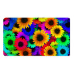 Bright Psychedelic Flower Child Hippy Pattern Double-Sided Standard Business Cards (Pack Of 100)