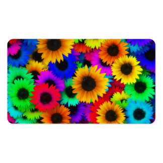 Bright Psychedelic Flower Child Hippy Pattern Business Card