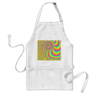 Bright Psychedelic Infinite Spiral Fractal Art Adult Apron