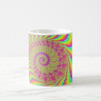 Bright Psychedelic Infinite Spiral Fractal Art Coffee Mug