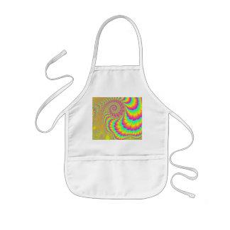 Bright Psychedelic Infinite Spiral Fractal Art Kids' Apron