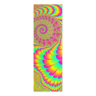 Bright Psychedelic Infinite Spiral Fractal Art Mini Business Card