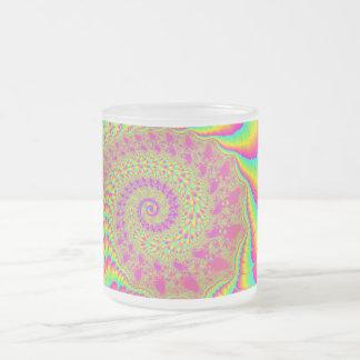 Bright Psychedelic Infinite Spiral Fractal Art Mugs