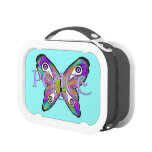 Bright Psychedelic Peace Butterfly Lunch Box