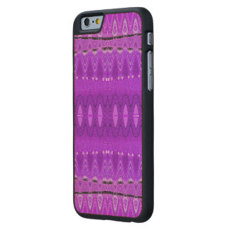Bright Purple Abstract Art Carved® Maple iPhone 6 Case