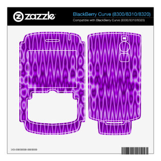 bright purple abstract pattern BlackBerry skins