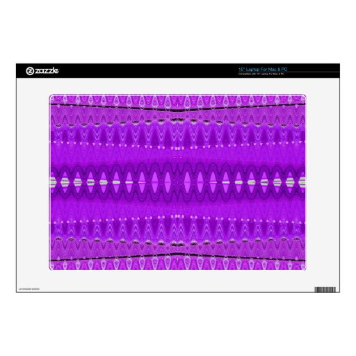 Bright Purple Abstract Pattern Decals For Laptops
