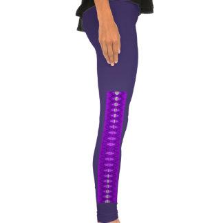 bright purple abstract pattern legging tights