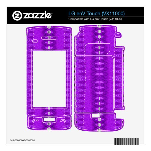 Bright Purple Abstract Pattern LG enV Touch Decal