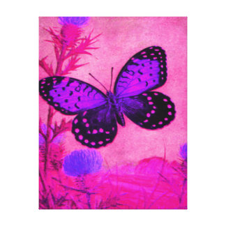 Bright Purple and Pink REGAL FRITILLARY Gallery Wrap Canvas