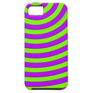 Bright Purple and Suicide Green Stripes iPhone SE/5/5s Case