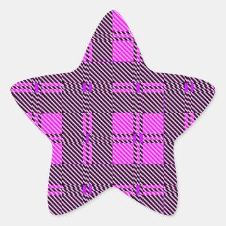 Bright Purple Background Star Sticker