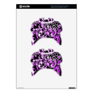 Bright Purple, Black and White mix -SK- Xbox 360 Controller Skin
