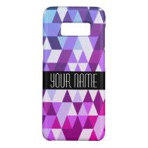 Bright Purple Blue Triangle Geometric Pattern Case-Mate Samsung Galaxy S8 Case