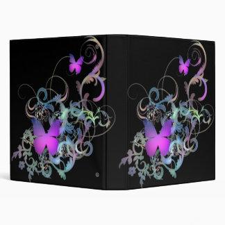 Bright Purple Butterflies Binder