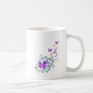 Bright Purple Butterfly Coffee Mug