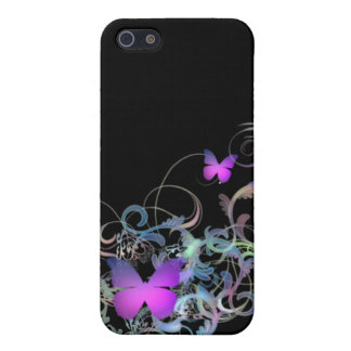 Bright Purple Butterfly Cover For iPhone SE/5/5s