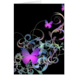 Bright Purple Butterfly Greeting Card