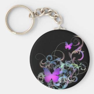 Bright Purple Butterfly Keychain
